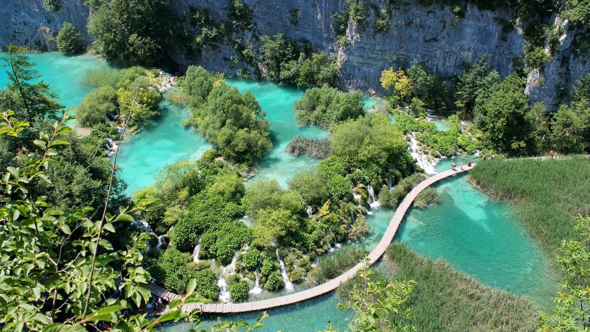 meren van Plitvice, Kroatie