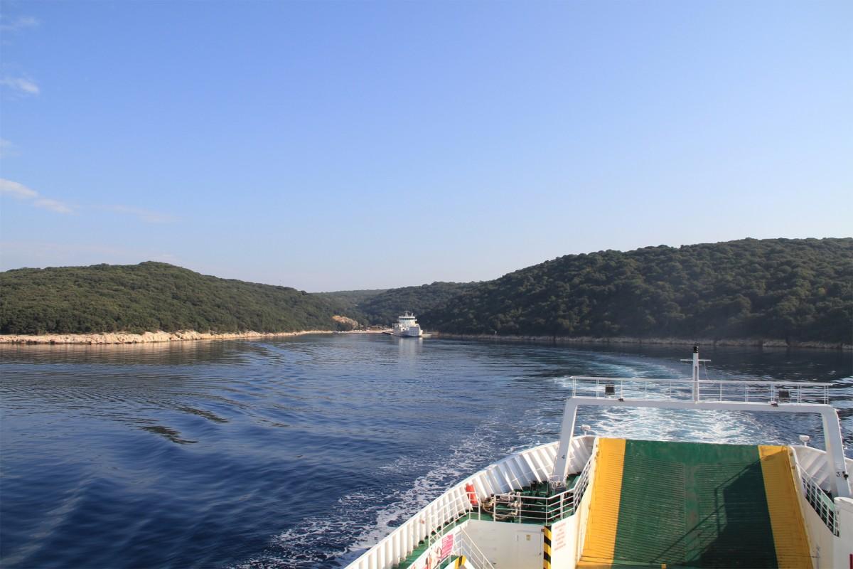 Veerboot Krk-Cres, Kroatie