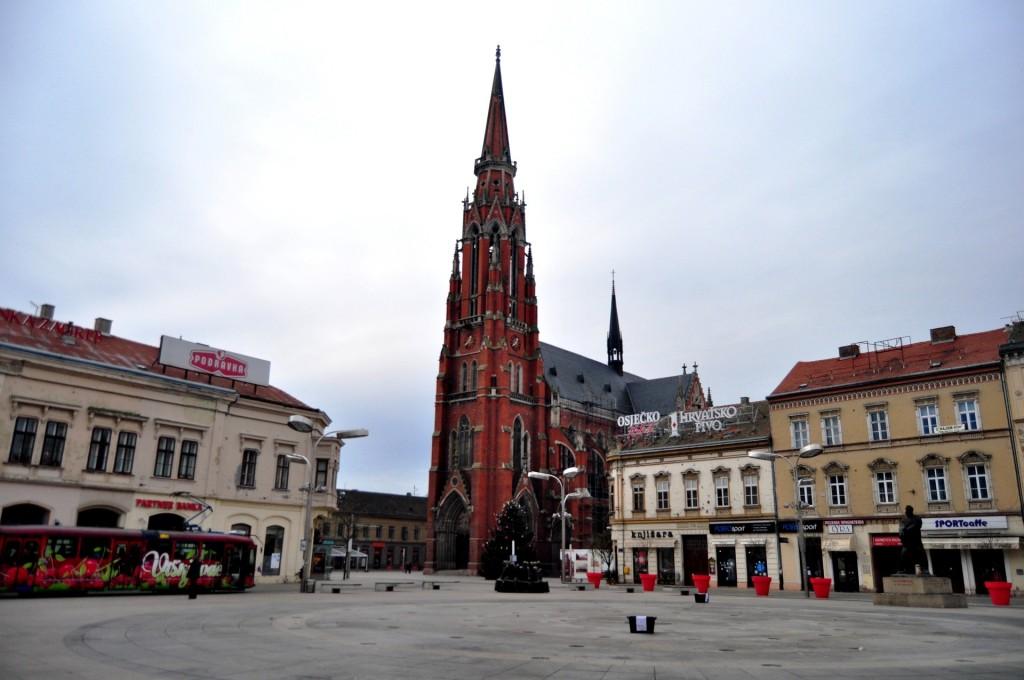 Kathedraal in Osijek, Kroatie
