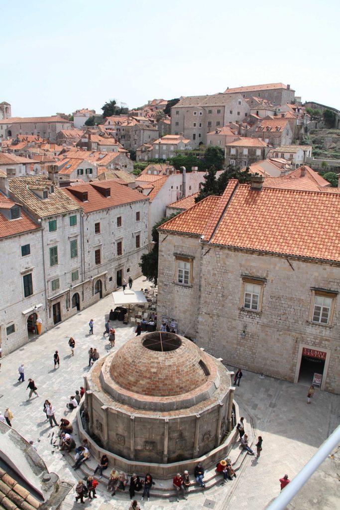 Dubrovnik, Fontein Onofria, Kroatie vakantie
