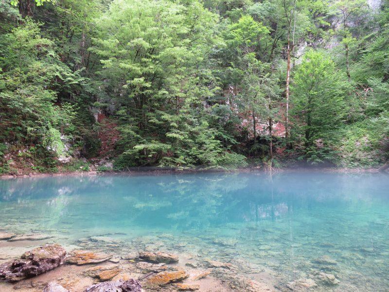 bron van de rivier de Kupa in NP Risnjak, Kroatie