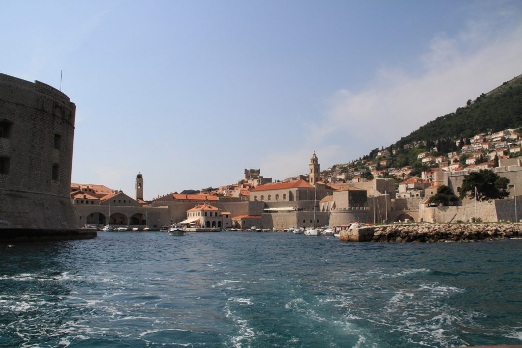 Departure from the old harbour in Dubrovnik, Croatia