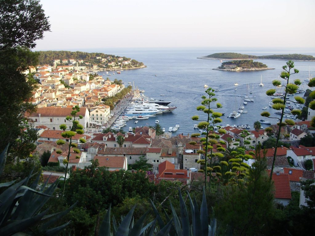 Panorama from fort, Hvar Croatia