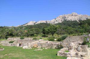 Ruins in Jurandvor, island Krk, Croatia