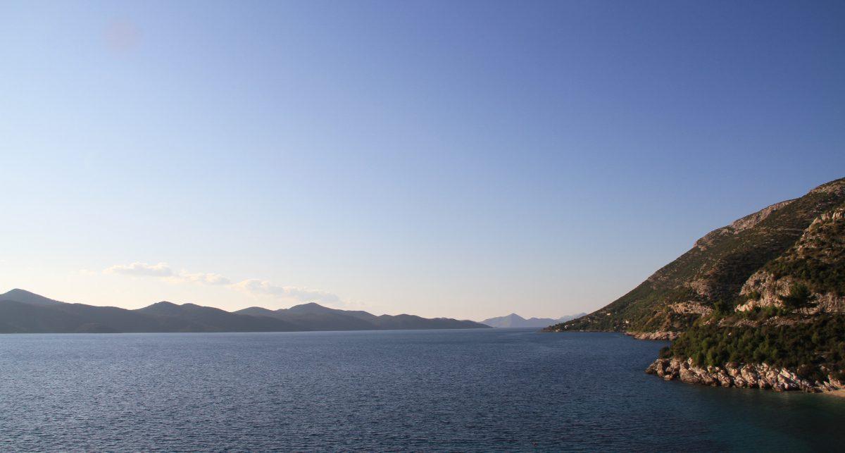 The sea near Dubrovnik, Croatia