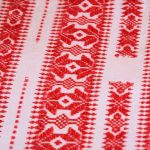 Traditional woven cloth from Medjimurje, Croatia