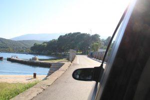 Bridge between island Cres and island Losinj in Osor, croatia