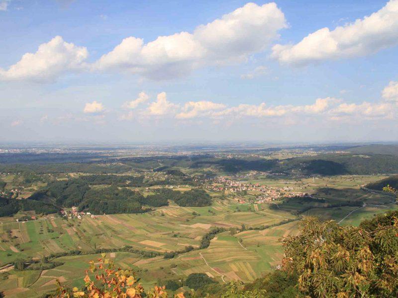 Panoramic view from Čevo, Varazdin, Croatia