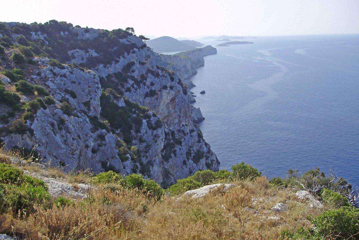 Panorama from island in Nature Park Telašćica in Croatia