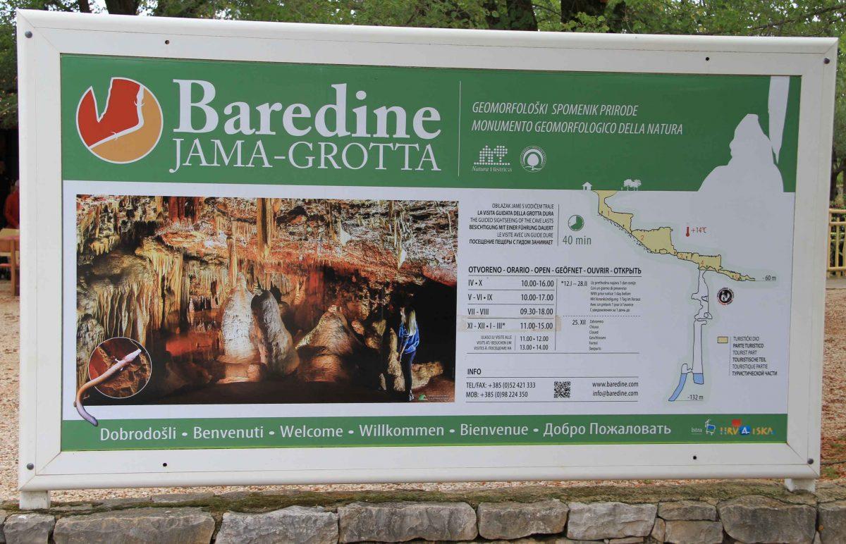 Baredine cave, Croatia