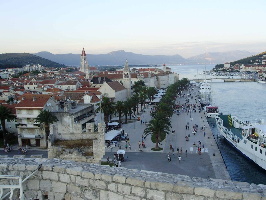 Trogir, view over promenade and old town