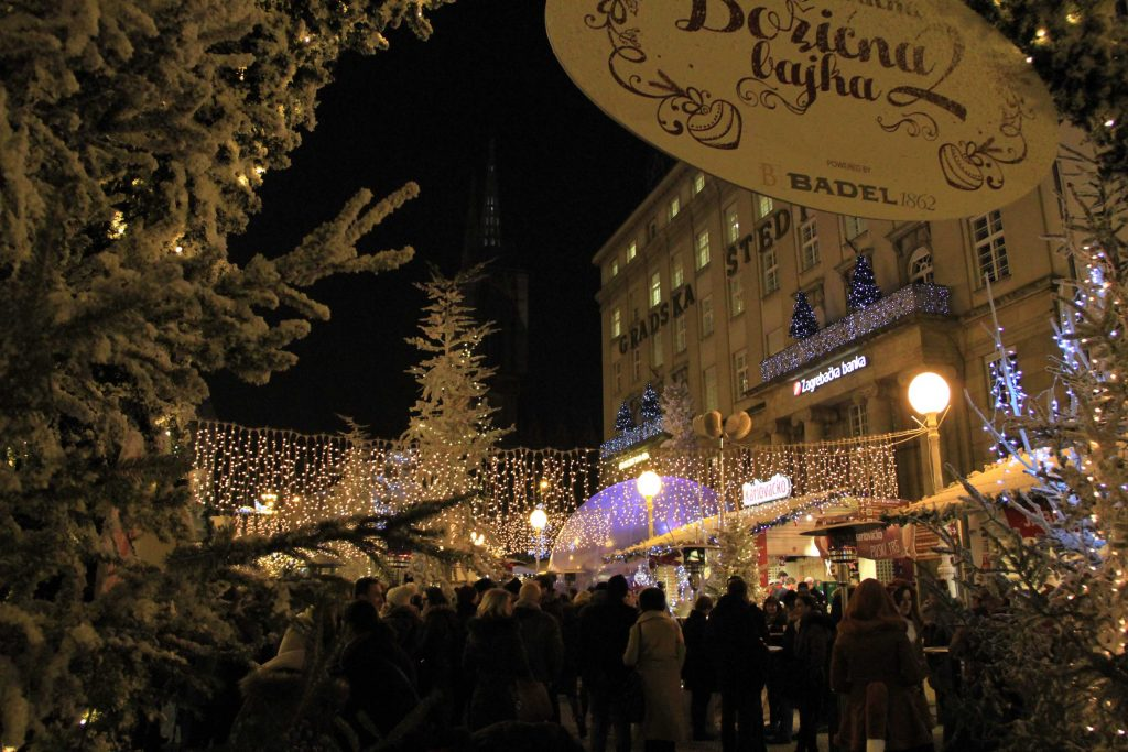 Advent in Zagreb - Ban Jelacic square