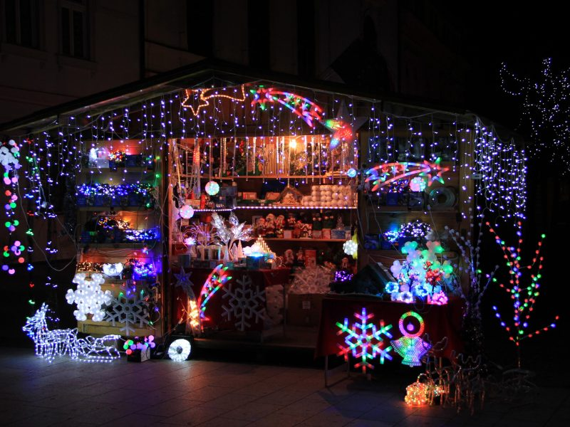 Christmas fair in Cakovec, Croatia