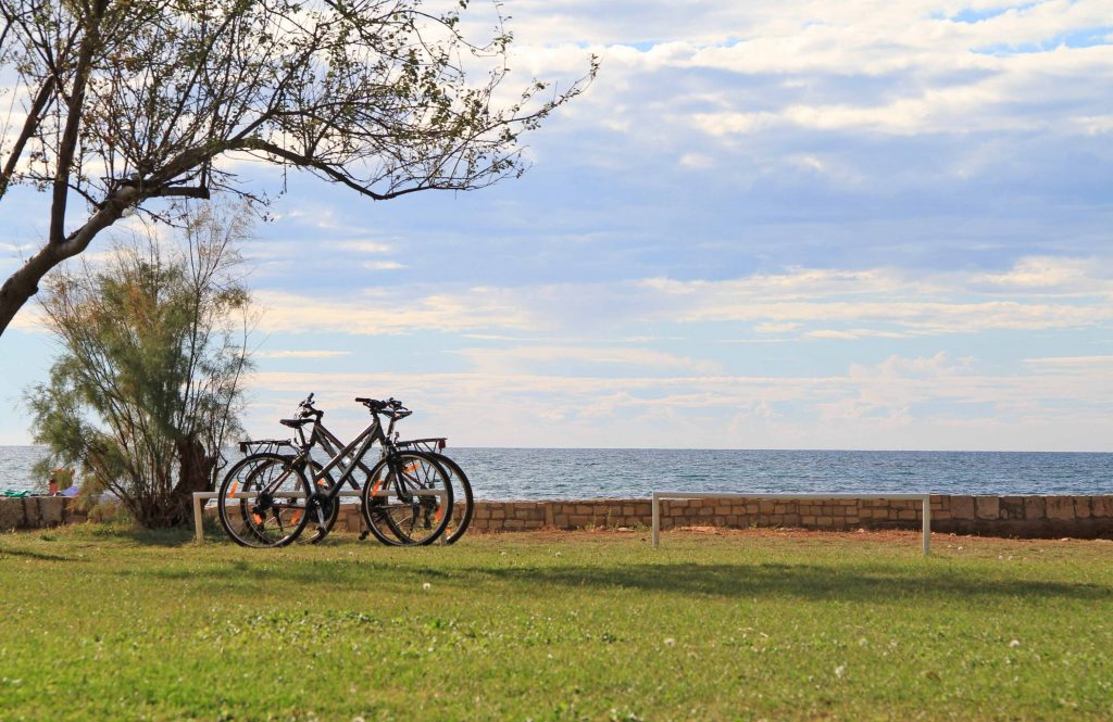 Cycling along the coast