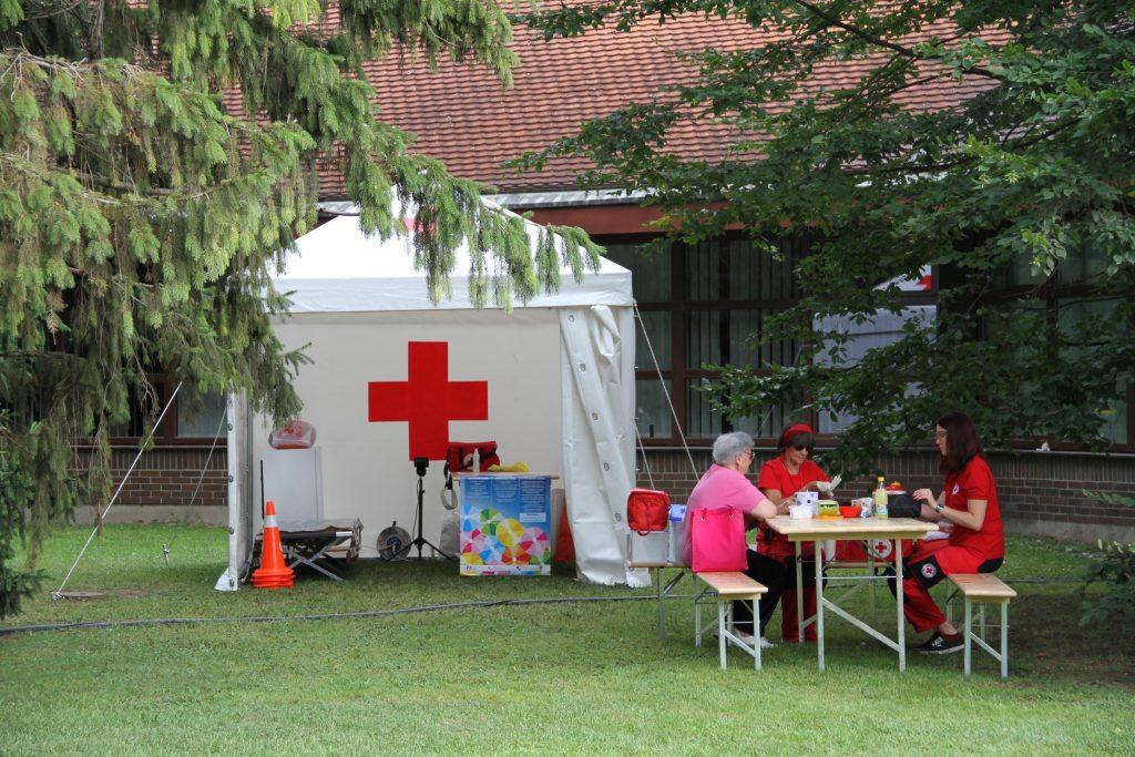 Red cross Porcijunkulovo 2017 in Cakovec Croatia