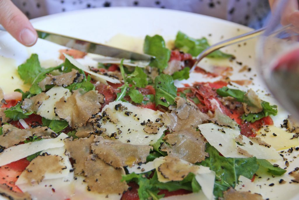 Carpaccio with truffles - Istria - Croatia
